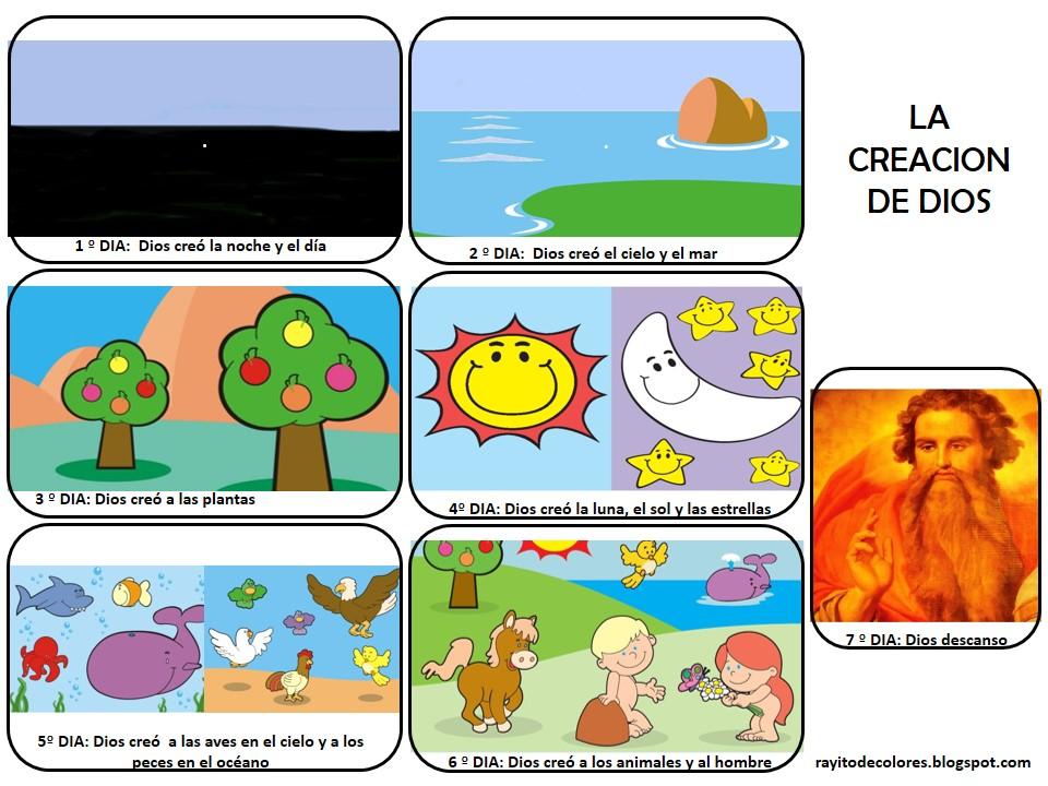 Creacion de Dios infantil
