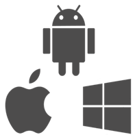 Android,  Windows Phone e iOS - 200x200