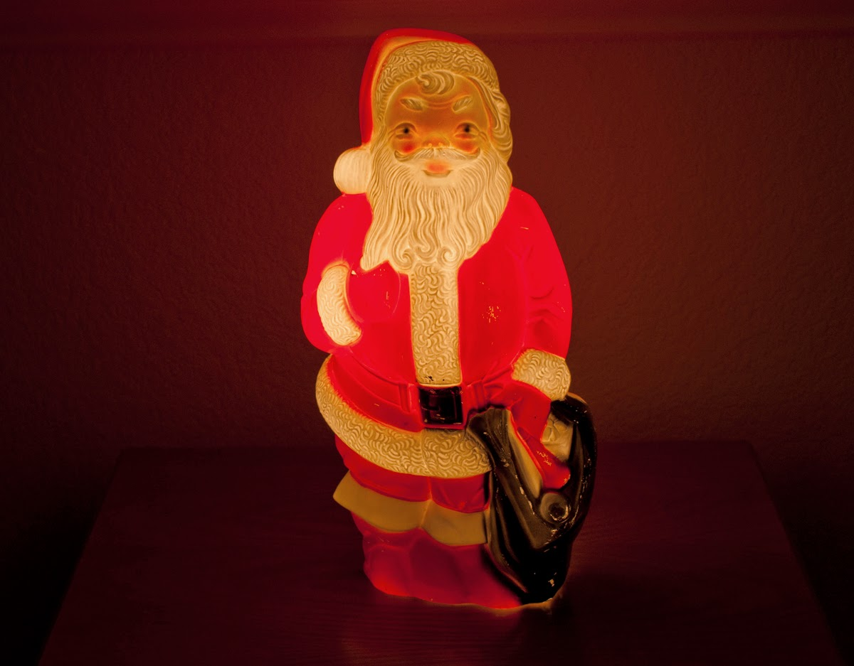 Plastic light up santa images christmas blow