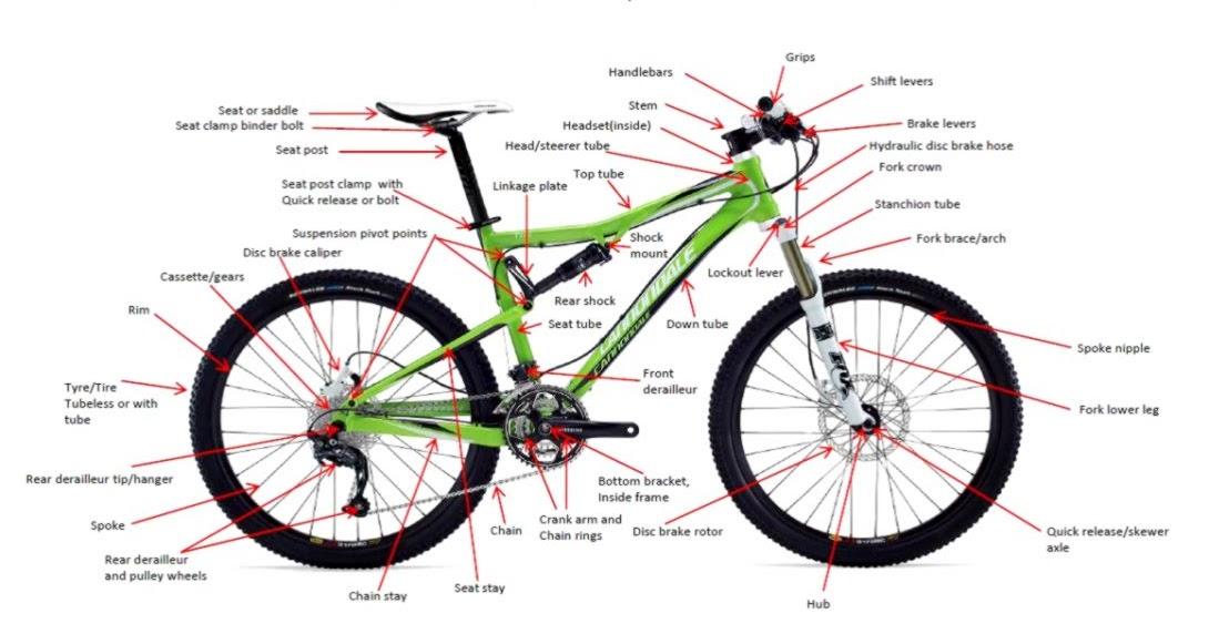 mountain bike components wallpapers area rh iswallpapersarea blogspot com Bicycle Anatomy Diagram MTB Parts