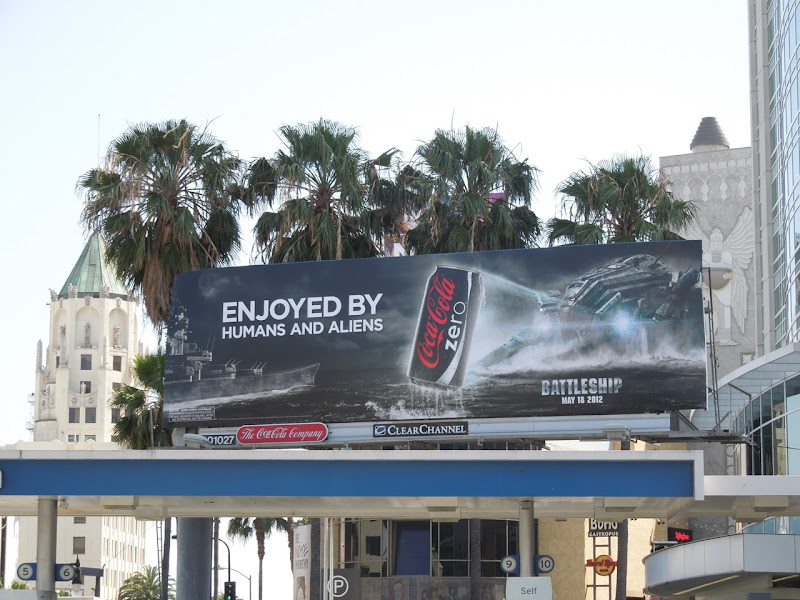Coke Zero Battleship movie tiein billboard