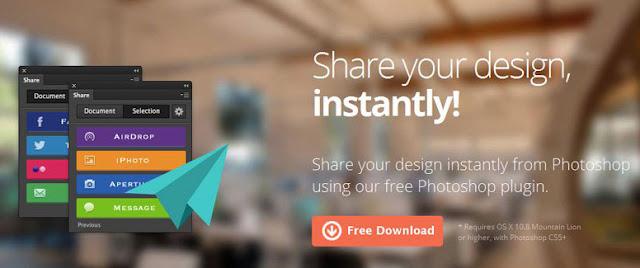 Photoshop Social Share Plugin