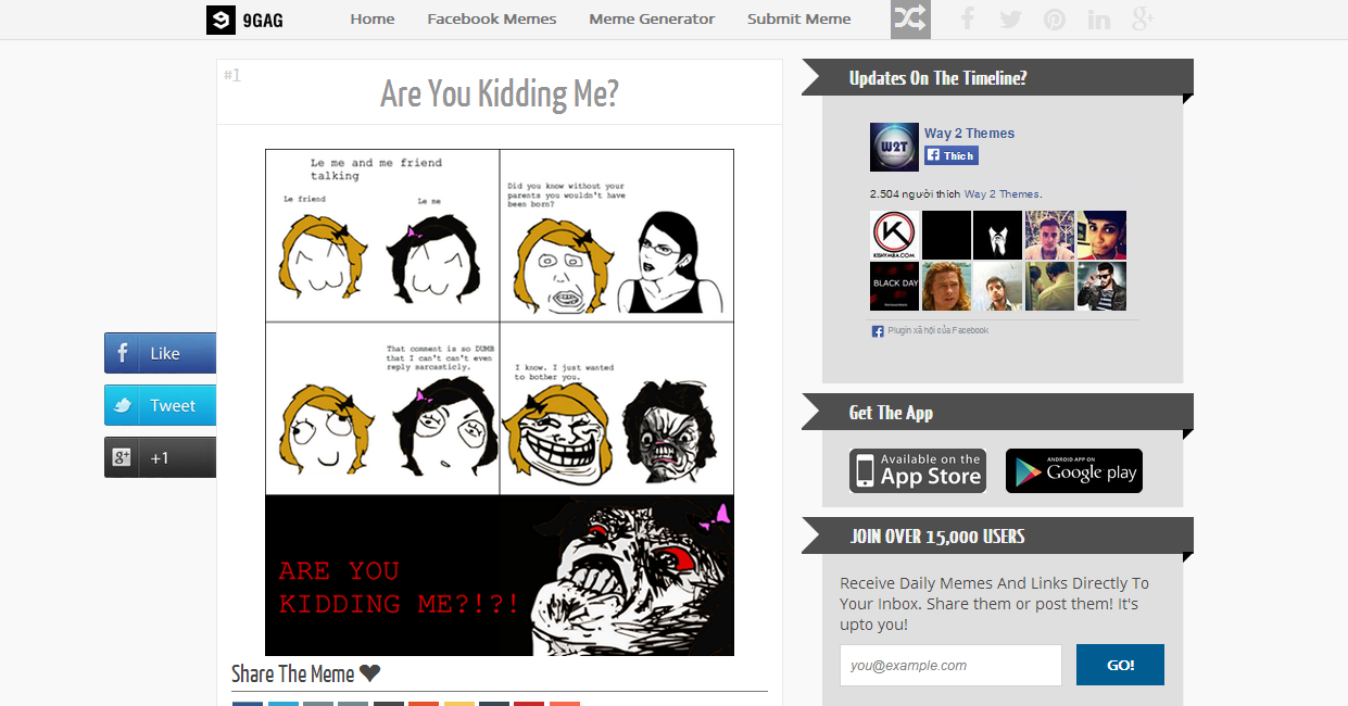 Share 9Troll Premium Meme Blogger Template