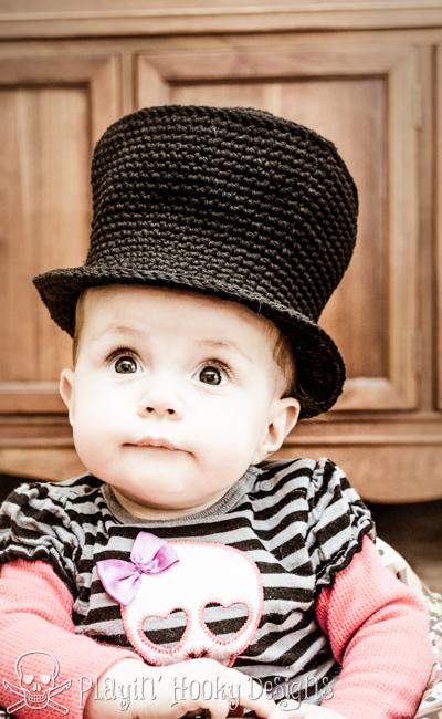 Playin\' Hooky Designs: Baby Top Hat - Free Crochet Pattern