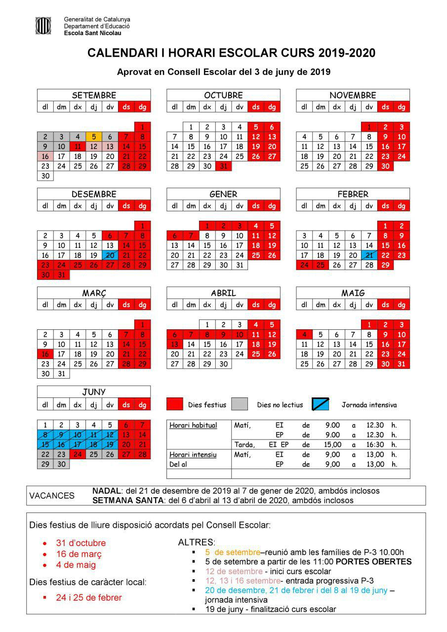 Calendari 2019/2020
