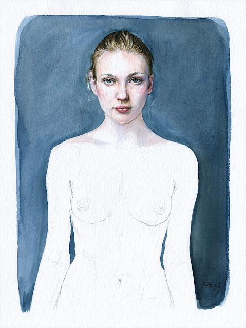 René Bui - Etude de nu à l'aquarelle 150136 - 2015