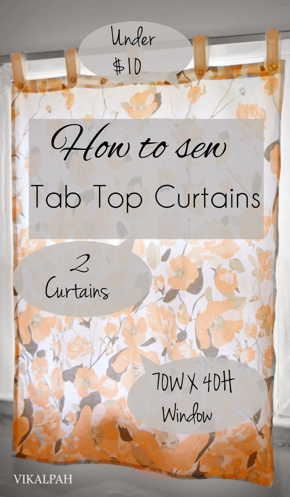 Vikalpah How To Sew Tab Top Curtains Under 10