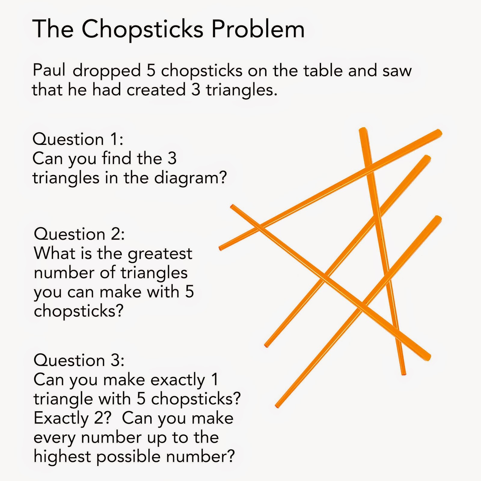1001 Math Problems: The Chopsticks Problem