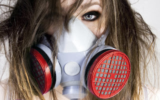 Blonde Girl Toxic Mask HD Wallpaper
