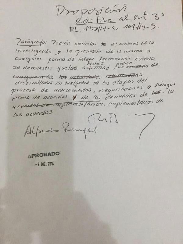 Moción de Alfredo Rangel Y Roy Barreras