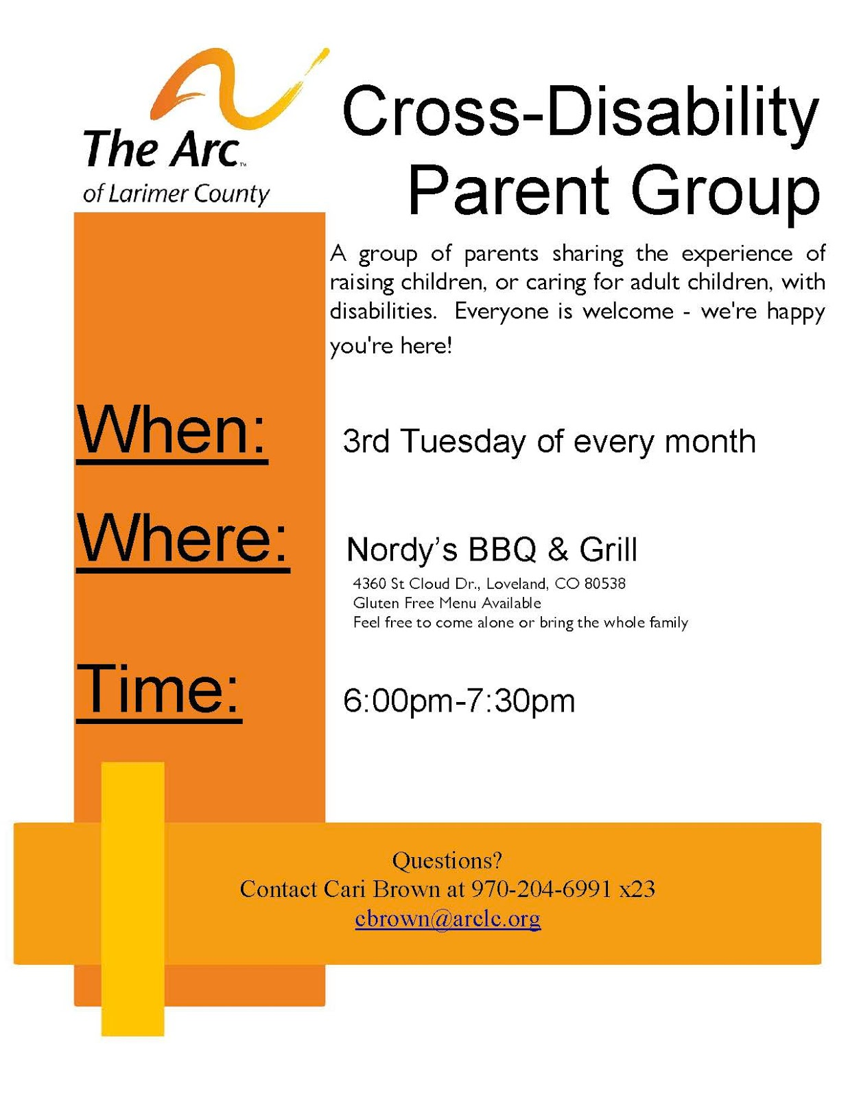 autism support group the arc of larimer county. Black Bedroom Furniture Sets. Home Design Ideas