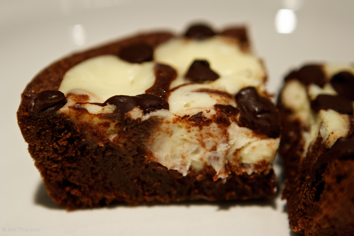 Jim's Place for Food and Booze: Cheesecake-Swirled Brownies