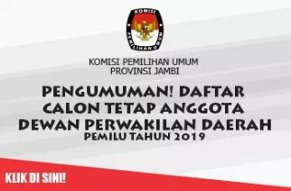 Daftar 41 Nama Calon DPD RI Dapil Prov Jambi