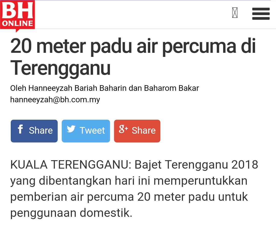 Air Percuma Terengganu