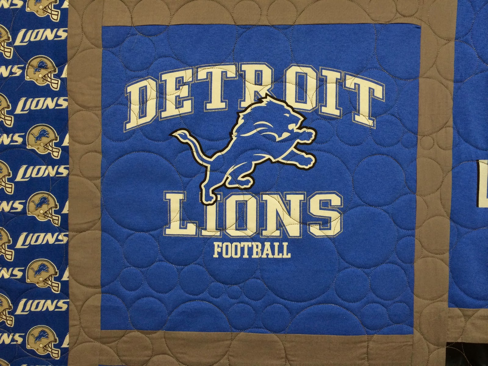 Wendy Bell's Detroit Lions Quilt