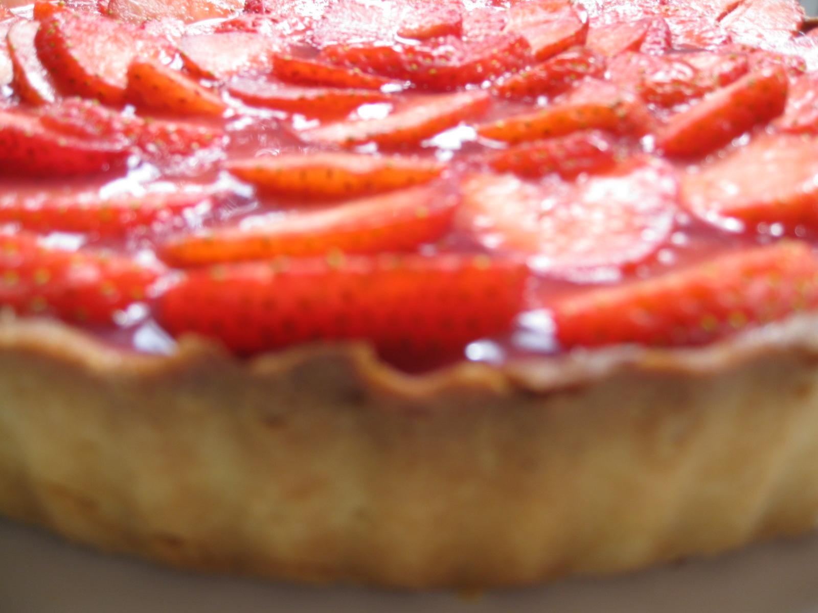 dias de cochura tarta de fresa con crema de vainilla
