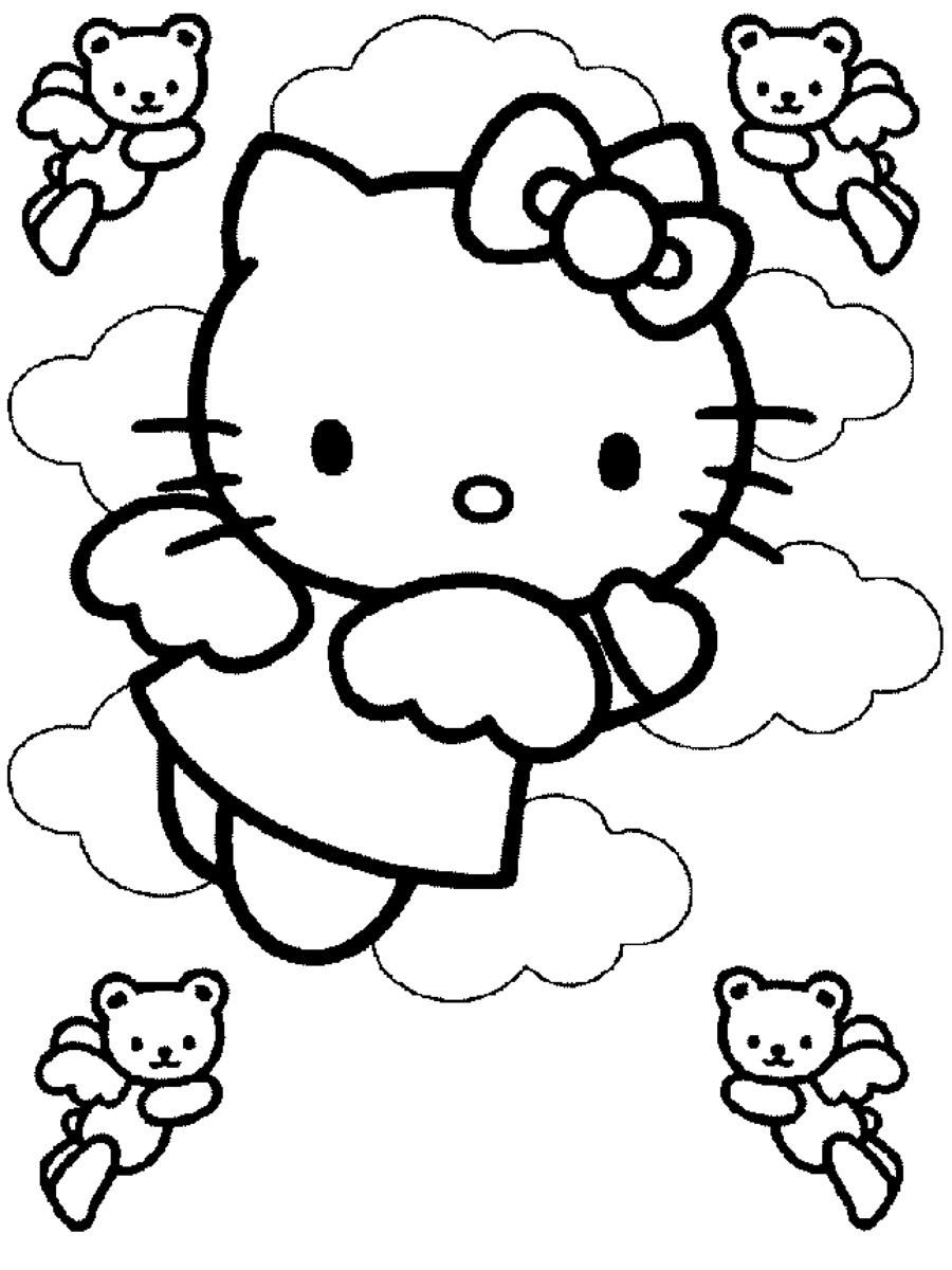 Ausmalbilder Für Kinder Hello Kitty : Ungew Hnlich Hallo Kitty Malvorlagen Halloween Zeitgen Ssisch