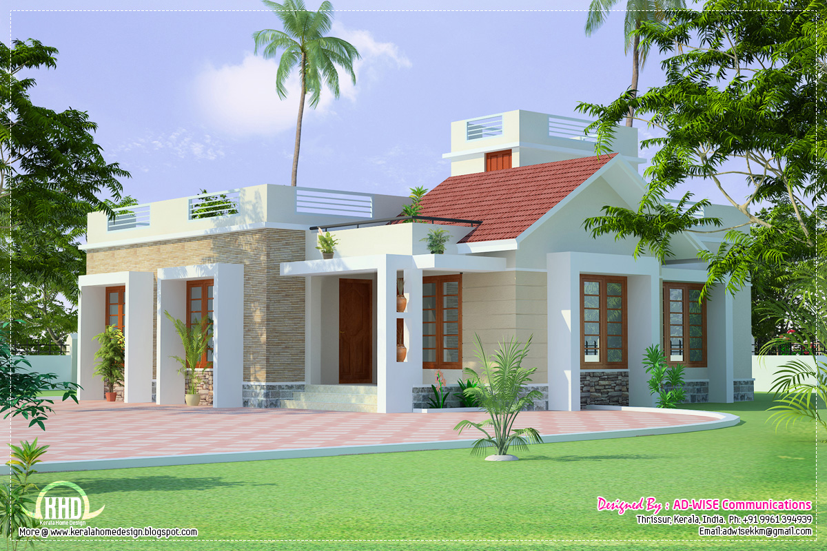 March 2013 kerala home design and floor plans for One level house designs