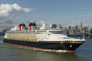 Disney Cruise Line's Disney Magic - Maiden Departure From NYC.