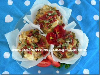 Scrumptious Marinated Feta and Sundried Tomato Muffins TRY THEM!!