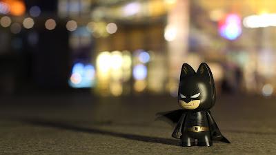 Lego Batman Blurred Light Circles Photo HD Wallpaper