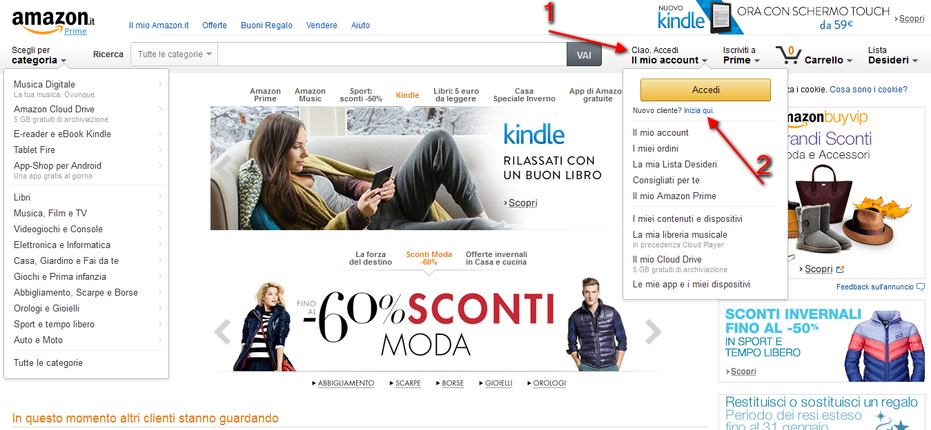 amazon: come iscriversi
