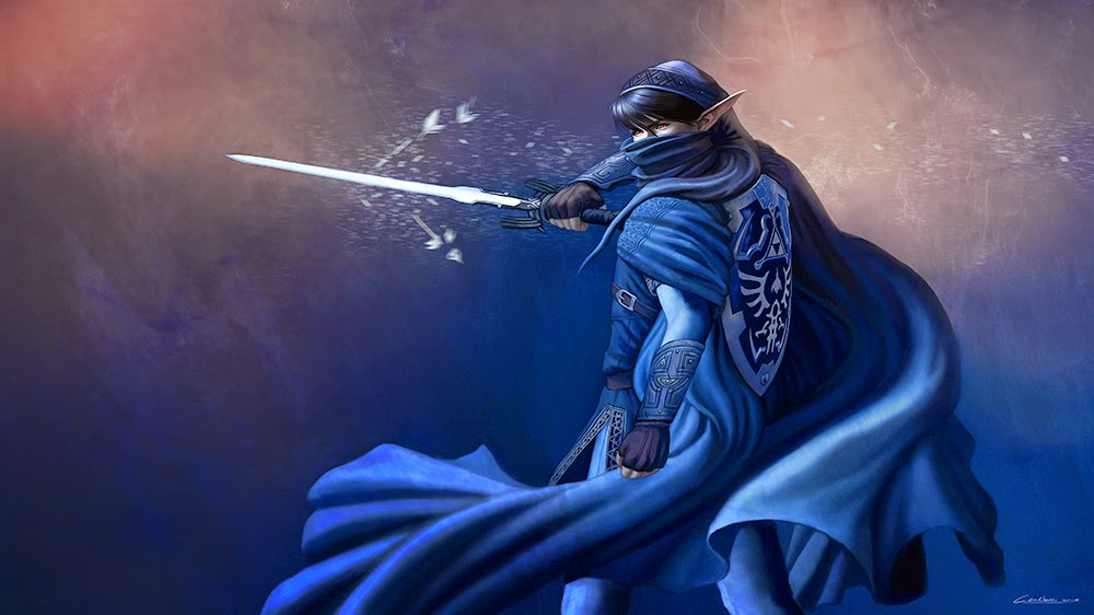 illustration de LaVata E. O'neal représentant Dark link du jeu Zelda