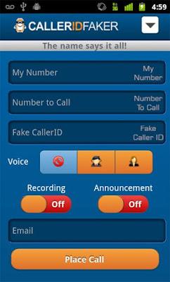 Caller ID Faker Cydia App