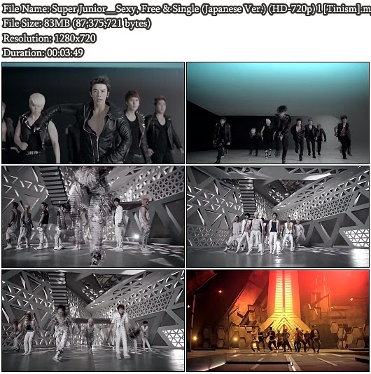 Download PV Super Junior - Sexy, Free &amp; Single (Japanese Full Ver.) (HD 720p)