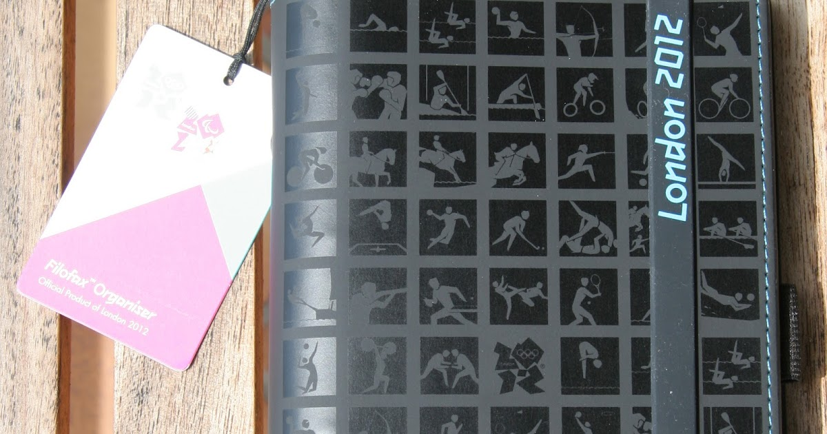 Philofaxy: London 2012 Sporting Icons & Line Burst - Review