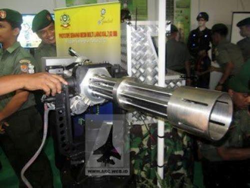 Gatlin gun TNI AD