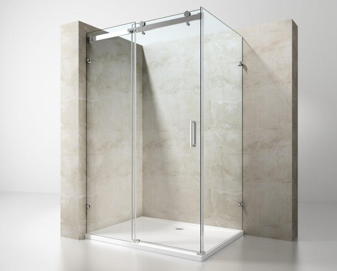 Cabine Doccia Rettangolari : Box doccia rettangolare senza profili box doccia cabine