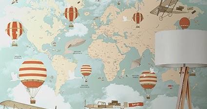 Little hands little hands wallpaper mural world map travel ii gumiabroncs Choice Image