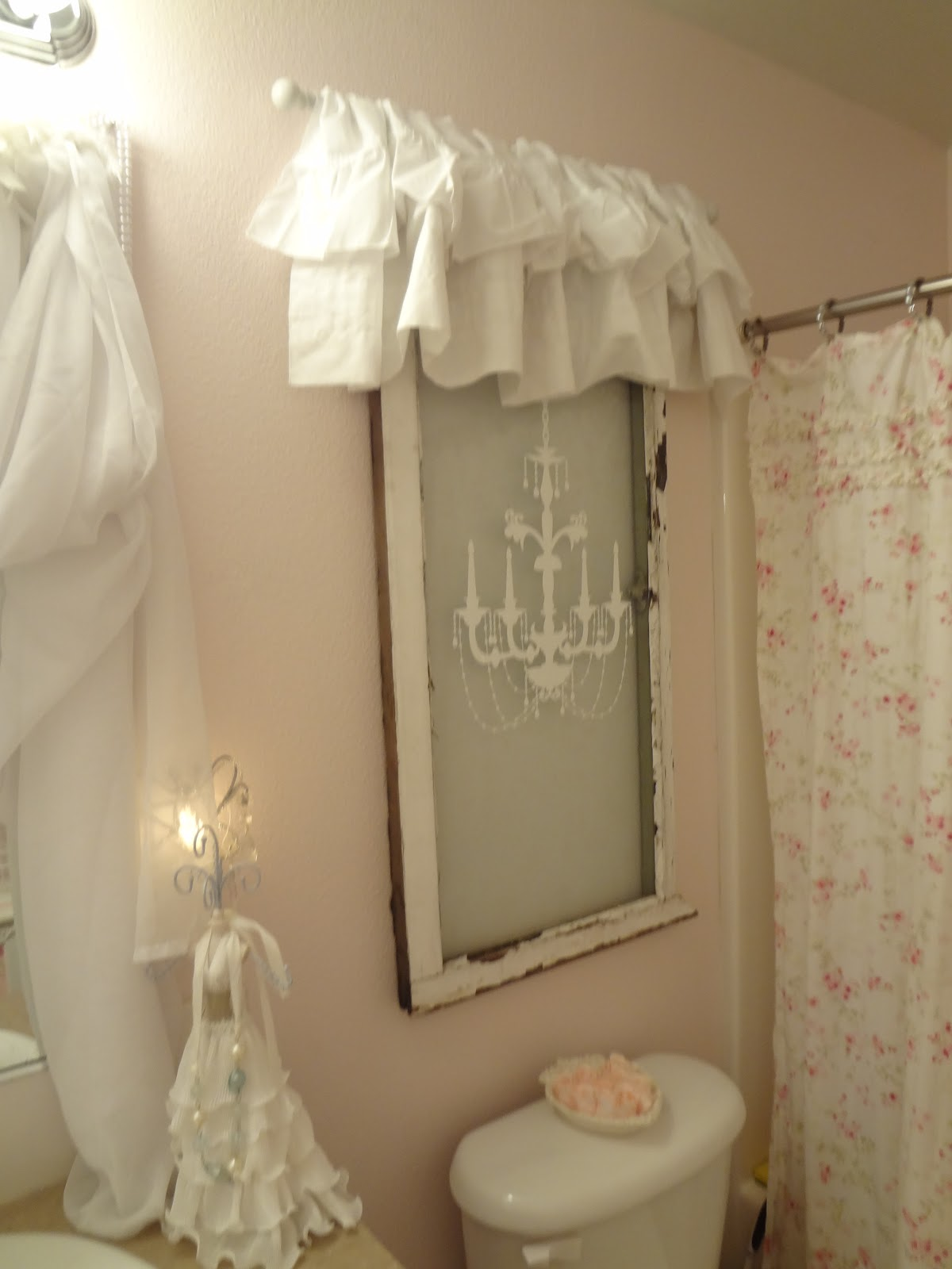 Lace bathroom window curtains - I Always Wished This Bathroom Had A Window In This Exact Place I Feel This Gives It The Feel Of A Window The Nice Part Is Though No One Can See In