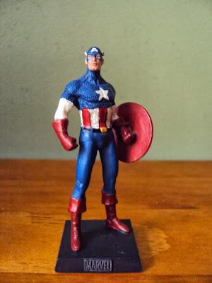 Miniatura Chumbo Eaglemoss Capitão América