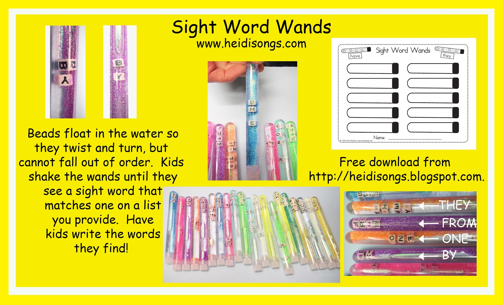 Sight pinterest Word sight Literacy word activities Core Centers: Wands!  Common