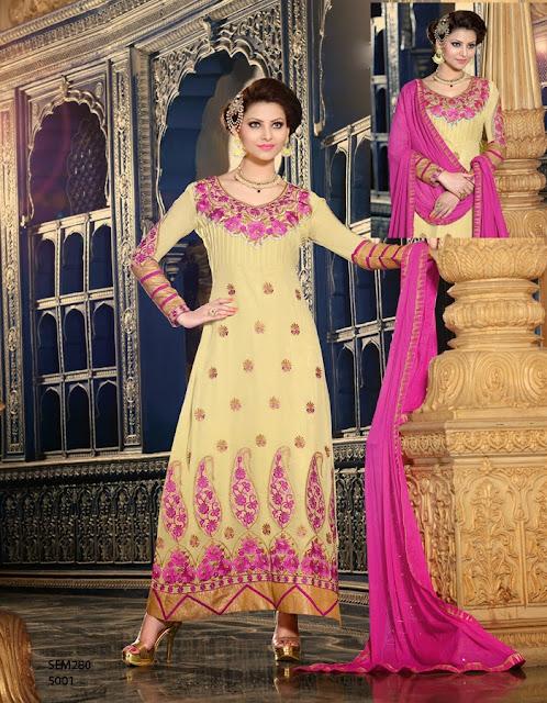 Miss Universe Urvashi Rautela Ankle Length Anarkali Suit