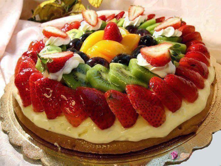 torta con frutta fresca e crema pasticcera (clicca e condividi)