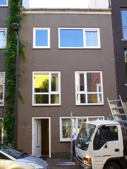 Huis in IJburg, voor schilderbeurt