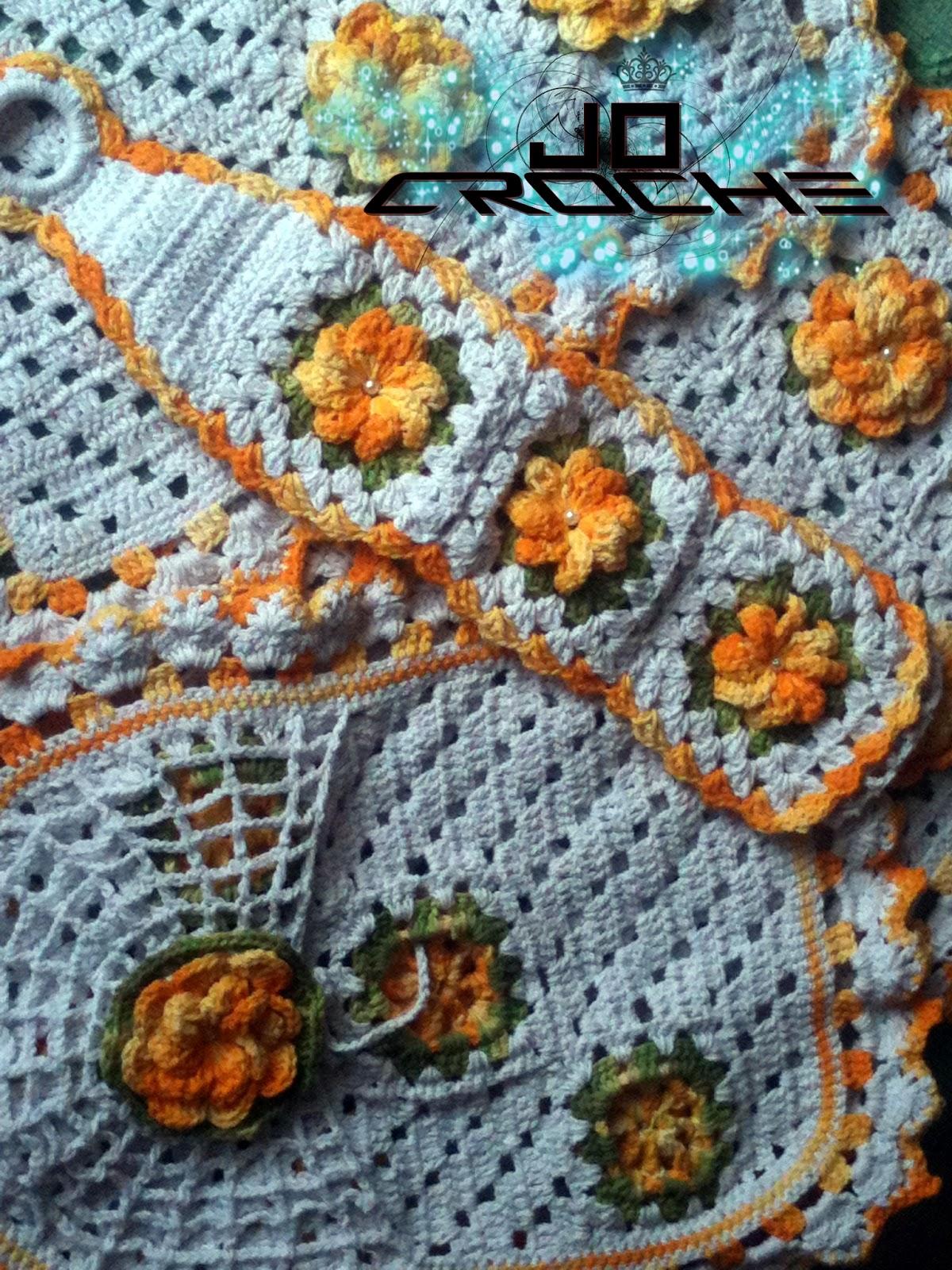 Jô Crochê: Jogo de banheiro Florido #A36428 1200x1600 Balança De Banheiro G Life