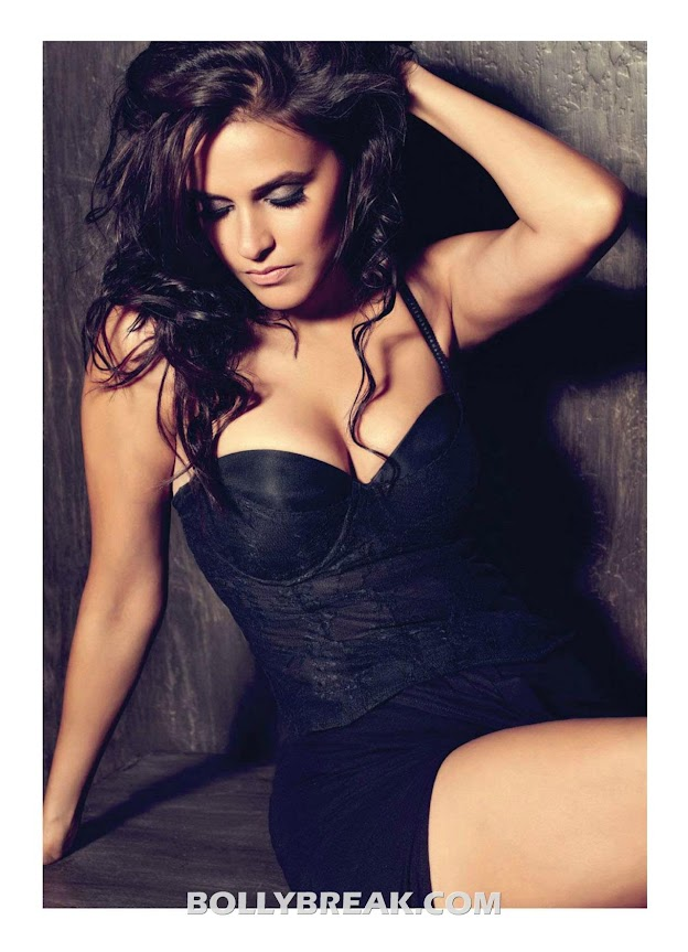 Neha Dhupia in Black Lingerie - Maxim Magazine july 2012 - Neha Dhupia Maxim India Magazine July 2012 Hd Pics