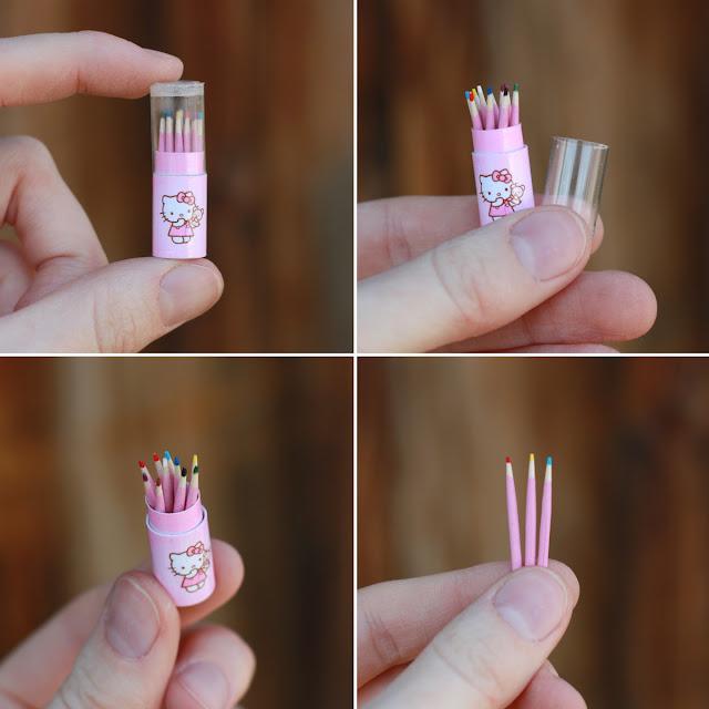 1/6 миниатюрные карандаши для куклы hello kitty