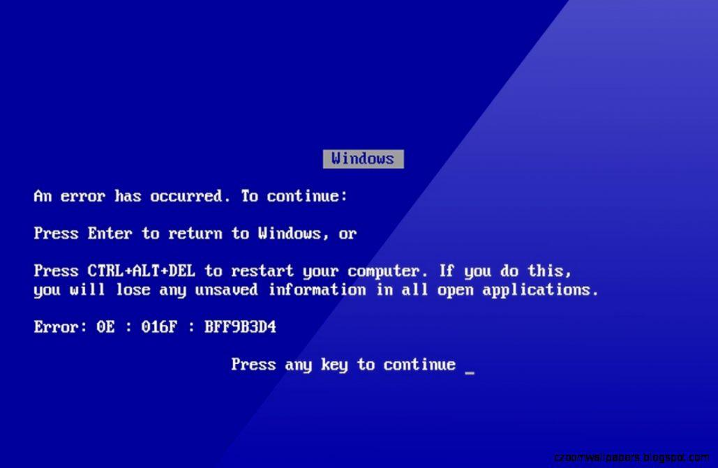 Windows Blue Screen Wallpaper  Management Science