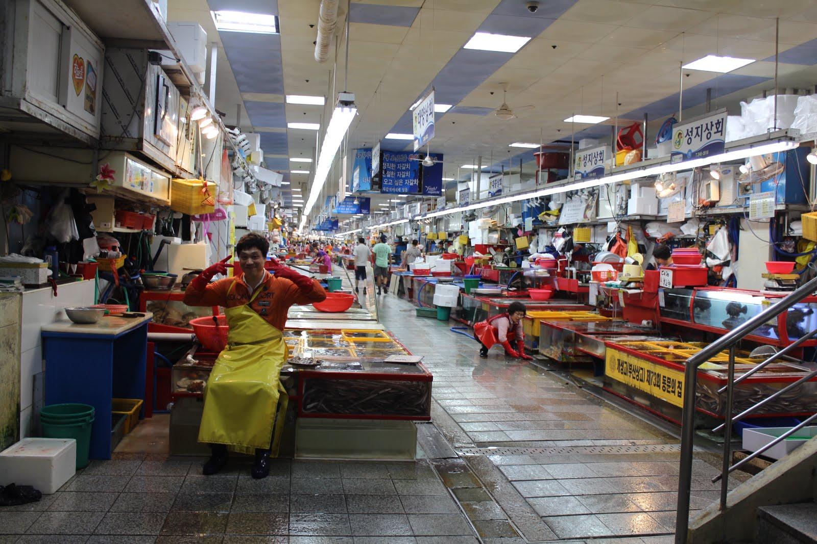 Hasil gambar untuk pasar ikan jagalchi