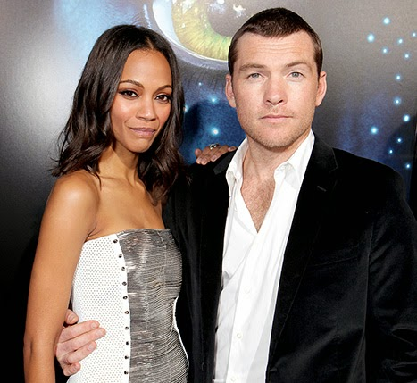 Avatar premiere photo Zoe Saldana and Sam Worthington
