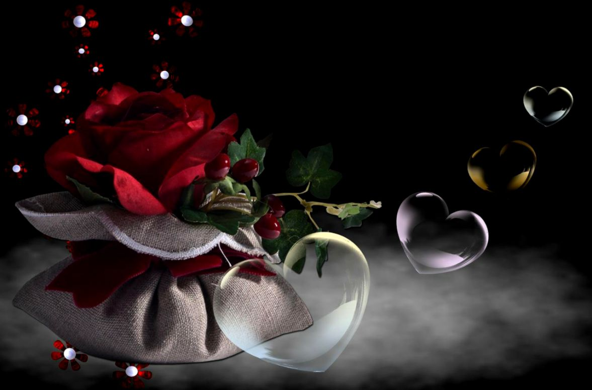 Hearts And Roses Wallpapers   Wallpaper Zone
