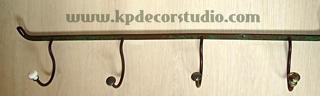 tienda de decoración online, percheros antiguos, venta de perchero vintage, forja, con oxido