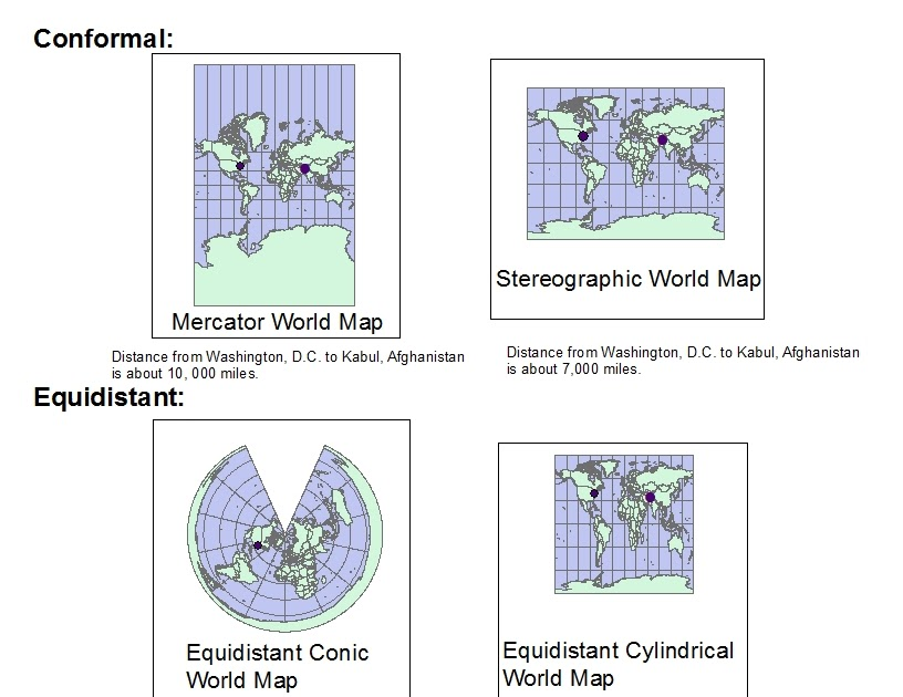 different types of map projections Learn about the different types of map projections and the different projection techniques that mapmakers use, including the mercator projection.