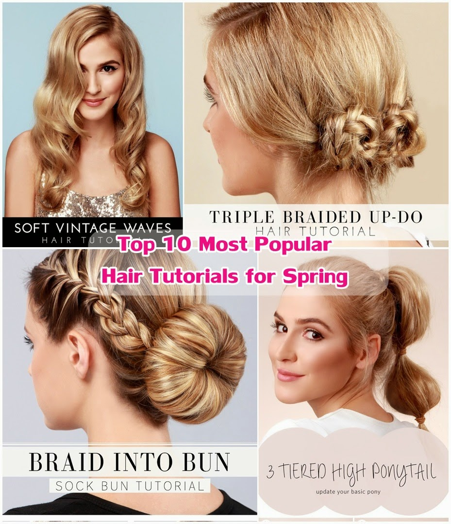 Top 10 Most Popular Hair Tutorials For Spring 2014 Diy