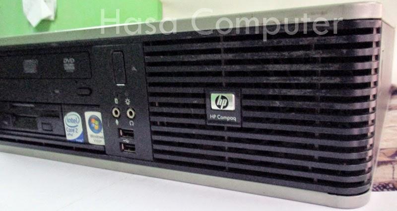 HP Compaq dc7800 tampak samping kiri